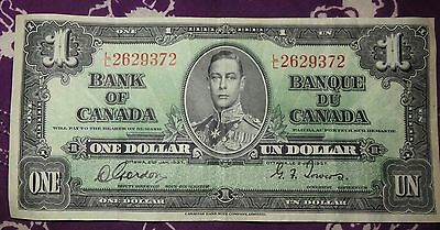 Bank Of Canada Jan.1937 One Dollar Bill