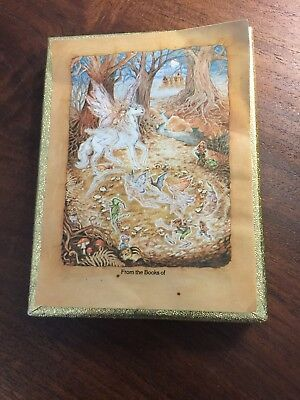 Vintage  Ex Libris Antioch Bookplates set of 26 Unicorn Fairy pegasus fantasy