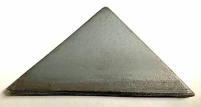 """(10) Steel Weld Gussets Triangles 2.5"""" x 2.5""""x .25"""" A36 Plate READY TO WELD"""