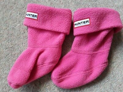 HUNTER WELLY SOCKS Small Infant Size 4-8 APPROX Fleece Wellington Boot Liners
