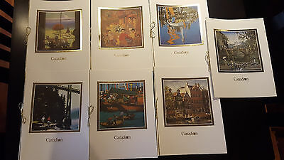 Canadian Airlines First Class Menu Covers. Set Of 7 Covers.