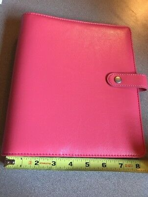 Simple Stories Carpe Diem A5 Planner-Peachy Pink Polka Dot Excellent Condition