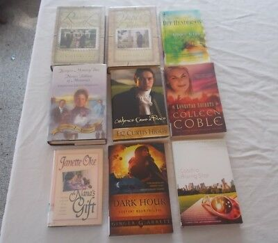 Lot of 9 Inspirational Christian Books AL & Joanna Lacy Colleen Coble +