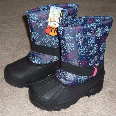 GIRLS SIZE 1 INSULATED -5 Degrees WINTER SNOW BOOTS - BRAND NEW!