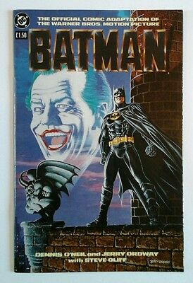 Batman Official Comic Adaptation Of The Movie 1989 Very Fine