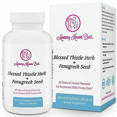 Fenugreek and Blessed Thistle Lactation Supplement for Breastfeeding Mothers