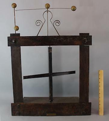 Antique Arts & Crafts Clockworks Kinetic Automaton Advertising Mechanical Sign
