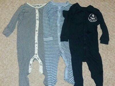 baby boy sleepsuit pyjama babygrow bundle 3-6 months nautical Next