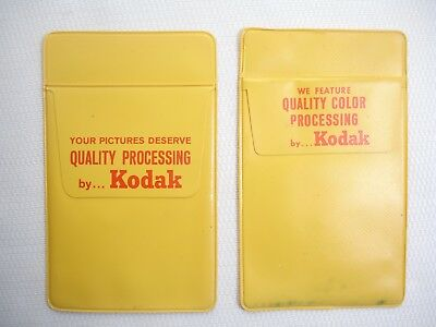 2 Different Vintage Kodak Advertising Pocket Protectors NICE!
