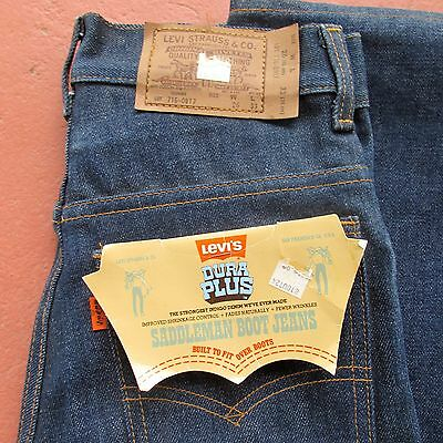 Rare Collectable Original USA Vintage 1970's Levi Jeans Student 26x33 #716-0917