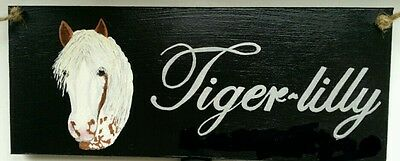 Personalised plaque,handpainted to look like your horse/pony £10 free post.