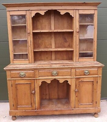 Solid Pine Farmhouse Kitchen Dresser Reclaimed Wood In The Antique Style