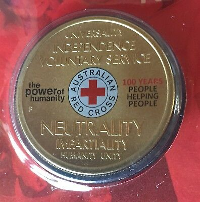 AUSTRALIAN $1 Coin Stamp PNC 2014 Nurse Voluntary Service Red Cross Dollar Coin