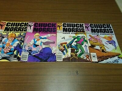 LOT OF 4 Star COMICS  Chuck Norris 1,2,3,4, 1980's 028