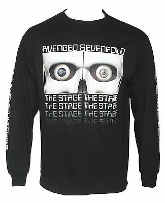 Authentic AVENGED SEVENFOLD Eyes The Stage Logo Long Sleeve Shirt S-2XL NEW