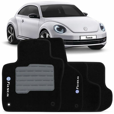 VW New Beetle INTERIOR CARPET FLOOR MAT LOGO 1998-2012 BLACK RHD 9CAQY 9CAZJ WU