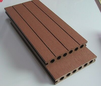 Plastic/Wood Composite Decking - 145X25X5800mm (w/Free clips)