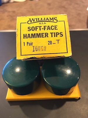 """J. H. Williams 20-T 2"""" Tough Soft Replacement Hammer Face Tips (Pack of 2)"""