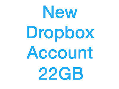 New Dropbox Account With 22GB Permanent Storage