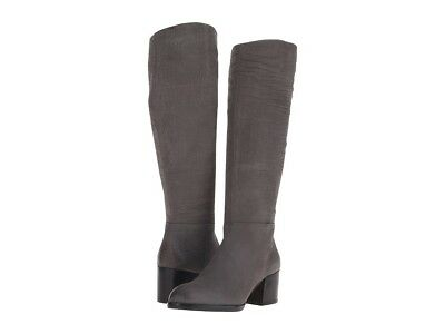76c1612a0 Sam Edelman Joelle Knee High Riding Boots Grey Croc Embossed Suede SZ 7 NEW   250