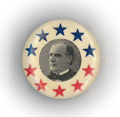 "* Outstanding  ~  "" WILLIAM McKINLEY ""  ~  1896 Campaign Button Stud"