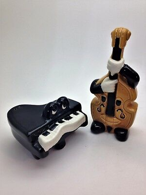 Vintage 5 & Dime Piano and Base Fiddle Salt and Pepper Shaker Set