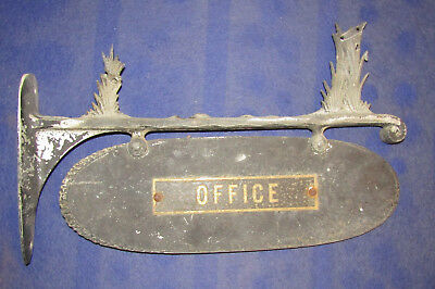 Antique Metal Office Trade Sign
