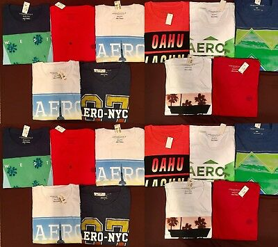 NWT Aeropostale Mens T Shirts Lot of 10 3XL XXXL Triple  Worldwide ship Resale