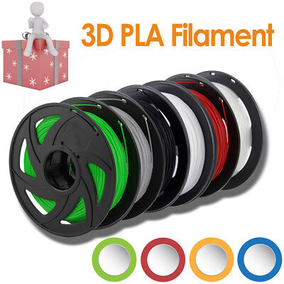 3D Printer Filament PLA 1.75mm 1kg/Roll Multiple Colours 300M MakerBot ProX AUS