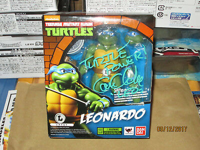 Teenage Mutant Ninja Turtles Tmnt Leonardo Sh Figuarts Signed Cam Clarke Classic