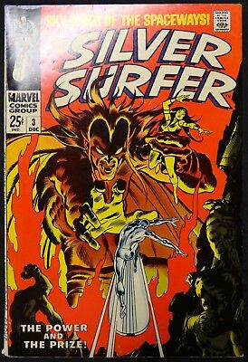 Dragonmiser Silver Surfer 1st Series #3 Dec 1968 1st Appearance Mephisto (Torn)