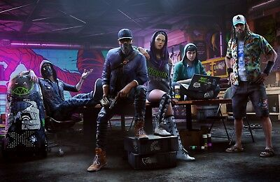 """Watch Dogs 2 Gaming Game Ps4 Xbox One Wall Art Canvas Picture Print 20X30"""""""