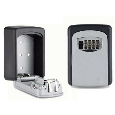 Safe Security 4 Digit Wall Mount Holder Password Hook Storage Key Lock Box Case