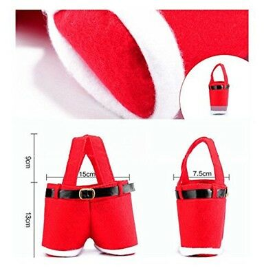 Red Father Christmas Santa Pants Stocking Filler Gift Treat Present Candy Bag
