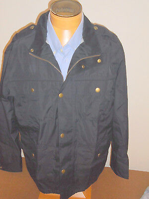 Barbour Cotton Blend Brimham Jacket Suede Trim Collar  NWT Large  $349 Navy