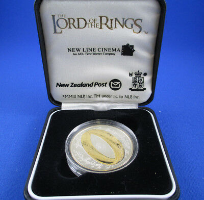 2003 $1 New Zealand Silver Proof Coin - The Lord of The Rings - SUPERB!!
