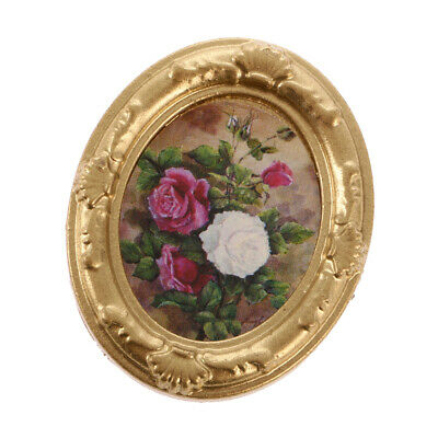 1/12 Dollhouse Miniature Ornament Toy Framed Flower Picture Wall Decor ACCS