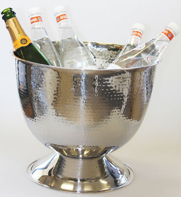 Tall Silver Champagne Bucket/TUB/Wine Cooler/Ice Bucket/Metal/Great Gift Idea