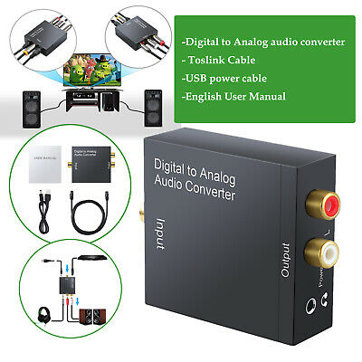 Digital Coaxial Toslink Optical to Analog Audio Converter Adapter L/R RCA & USB