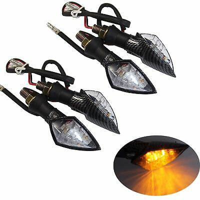 2 Pair LED Turn Signals Light Indicators Motorcycle Hyosung GT250R GT650R GT250R