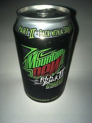 Mountain Dew Pitch Black II unopened can  2005