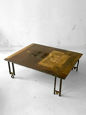 1990 Argueyrolles Table Basse Sculpture Brutalist Moderniste Memphis Shabby-Chic