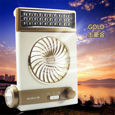 3 in 1 Multi-function Rechargeable Solar Power Fan LED Table Lamp Flashlight
