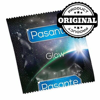 PASANTE Glow in the dark - 3, 6, 12, 24 condoms (#NM14)