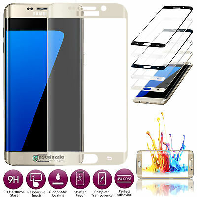 Edge Full Cover Tempered Glass Film Screen Protector For Samsung Galaxy Phones