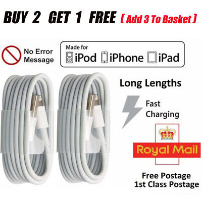 USB Lightening Sync Charger Lead Data Cable For Iphone5 5s 7 6 6s 7Plus Ipad UK