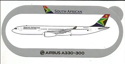 AIRBUS STICKER AUTOCOLLANT A330-300 South African Airways - NEUF