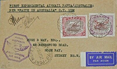 Australian Flight Cover - Port Moresby-Australia.july 1934,signed.c.ulm &g.allan