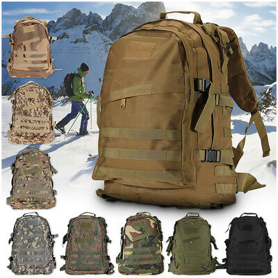 40L 3D Outdoor Molle Army Military Tactical Rucksack Backpack Camping Hiking Bag
