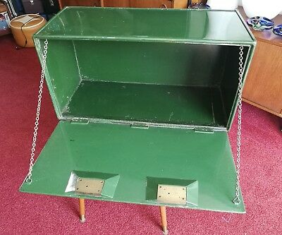 Milners Safe Company Twin Lock Vintage Cupboard/ Strong Box With Keys Green